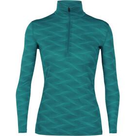 Icebreaker W's 200 Oasis Curve LS Half Zip Shirt Kingfisher/Arctic Teal